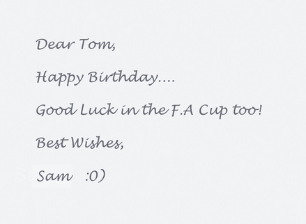 Personalised Birthday message